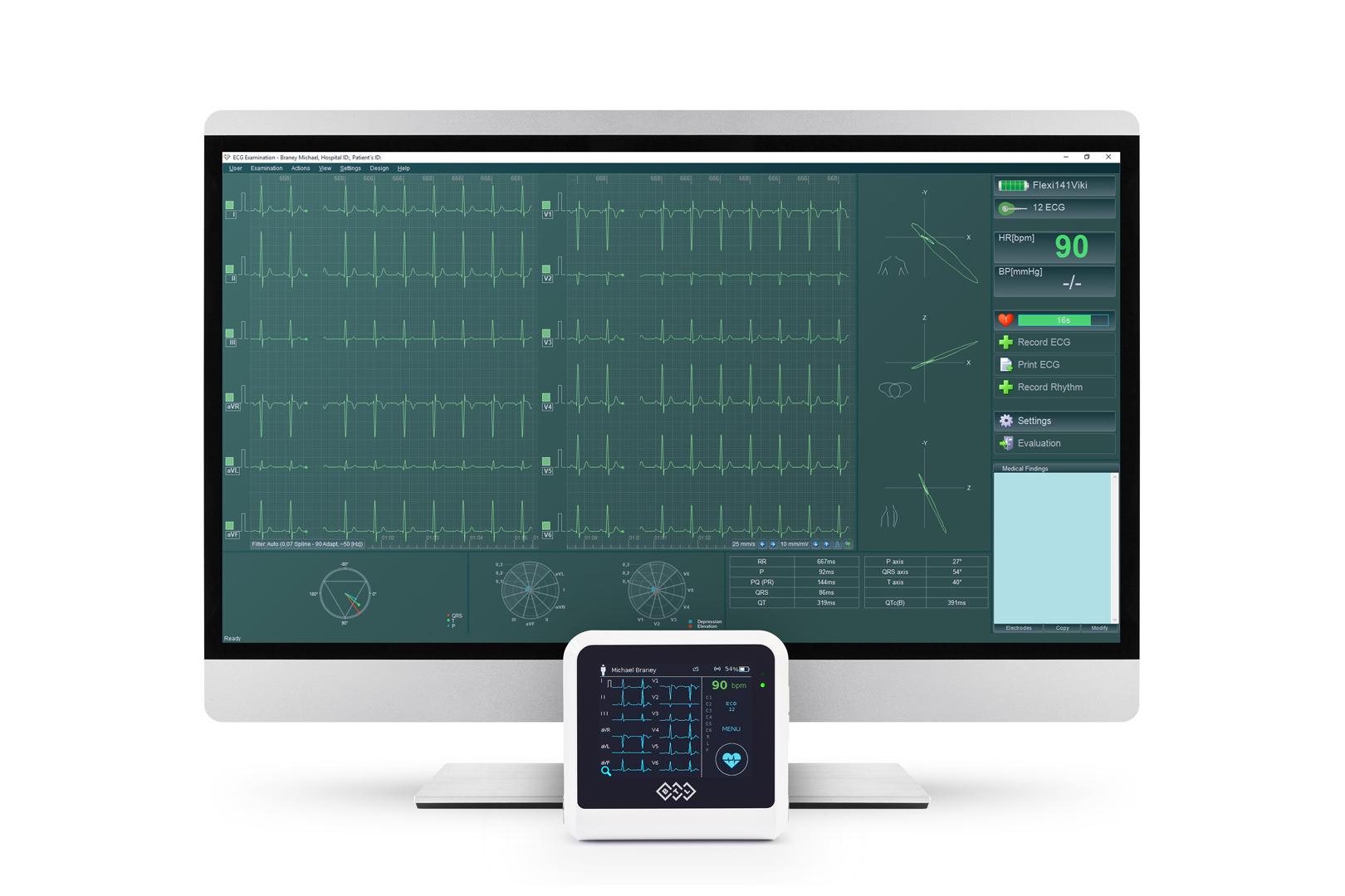 BTL CardioPoint Flexi EKG (Set) - Belastungs-EKG